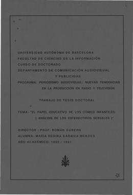 UNIVERSIDAD AUTÓNOMA DE BARCELONA FACULTAD DE