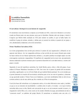 Bárbara Barreiro León La estética Surrealista, pp. 445-462