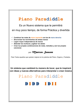 Piano Paradiddle Piano Paradiddle