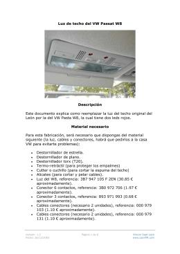 Luz de techo de VW Passat W8