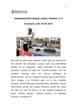 PARQUE LINEAL - Presidencia de la República del Ecuador
