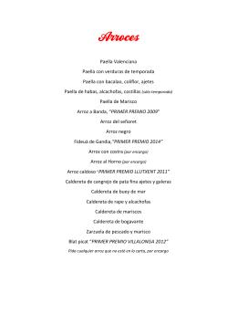 Paella Valenciana Paella con verduras de temporada Paella con