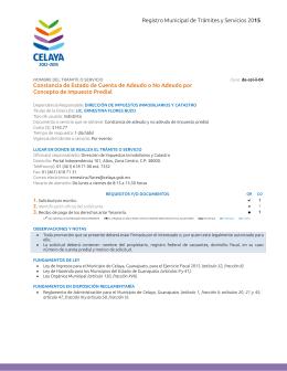Registro Municipal de Trámites y Servicios 2015