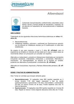Albendazol - Pediamécum