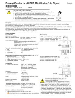 Preamplificador de pH/ORP 2760 DryLoc® de Signet