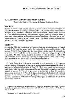 El Partido Bolchevique Leninista Cubano