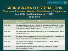 1 - Tribunal Electoral de la provincia de Entre Ríos