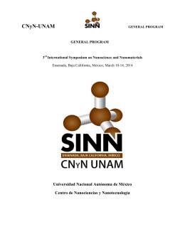 3rd International Symposium on Nanoscience and - CNyN
