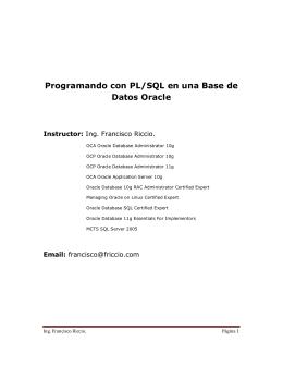 Programando con PL/SQL en una Base de Datos Oracle