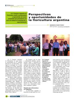 Perspectivas y oportunidades de la floricultura argentina