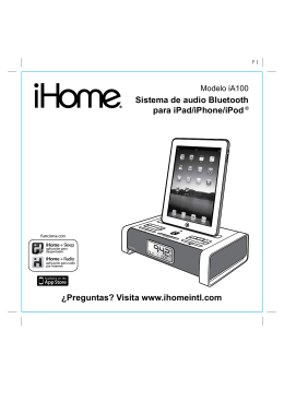 Sistema de audio Bluetooth para iPad/iPhone/iPod