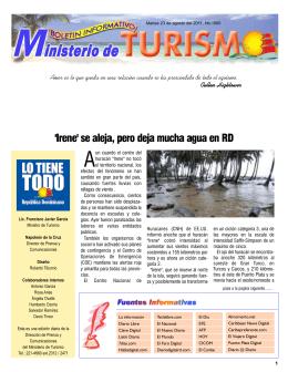 Boletín Informativo 23-8-2011
