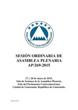 AP-269-2015 - Parlamento Centroamericano
