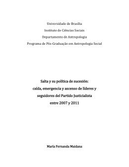 Salta y su política de sucesión - Repositório Institucional da UnB