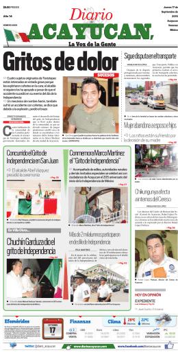 Chuchín Garduza dio el grito de Independencia
