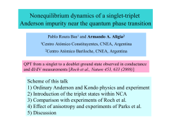 Nonequilibrium dynamics of a singlet-triplet Anderson