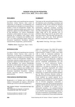 Signos vitales en pediatría. Pediatric vital signs. Darío Cobo, Paola