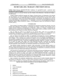 NOM-002-STPS-2010 - Secretaría del Trabajo y Previsión Social