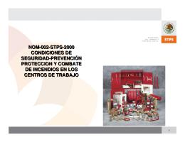 nom 002-stps-2000 condiciones de seguridad