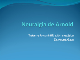 Neuralgia de Arnold - Instituto de Neurología