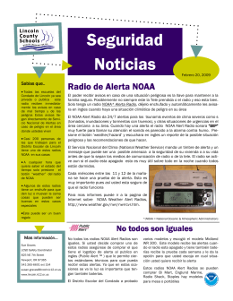 Safety Newsletter NOAA Alert Radios SPANISH.pub