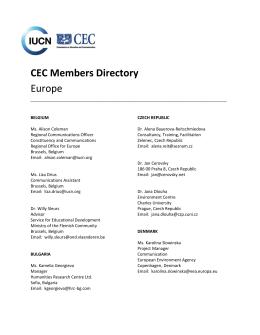 CEC Members Directory Europe