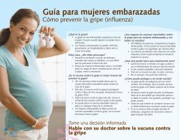 Guía para mujeres embarazadas
