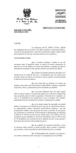 ORDENANZA Nº 3125-HCD