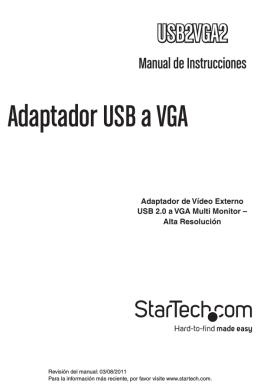 Adaptador USB a VGA