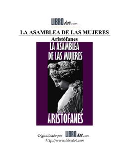 LA ASAMBLEA DE LAS MUJERES Aristófanes