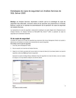 Estrategias de copia de seguridad con Análisis Services de SQL