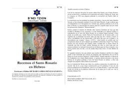 oraciones cristianas en hebreo