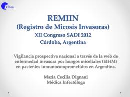 REMIIN Presentación oral SADI 2012