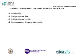 8. SISTEMAS DE INTERCAMBIO DE CALOR Y REFRIGERACIÓN