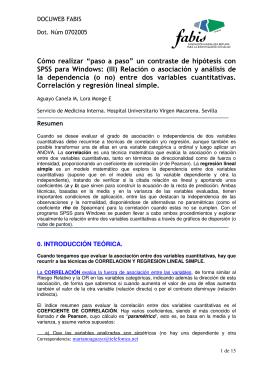 un contraste de hipótesis con SPSS para Windows: (III