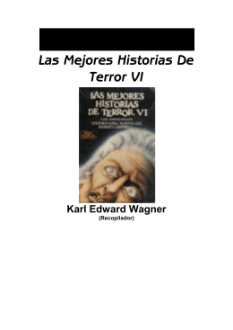 Wagner, Karl Edward - Las Mejores Historias De Terror VI