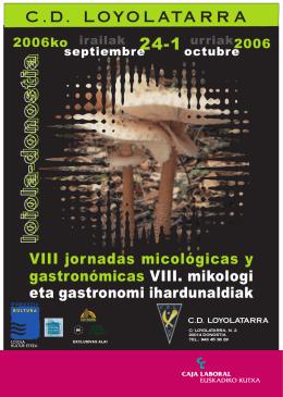 programa de las jornadas micologicas 2006