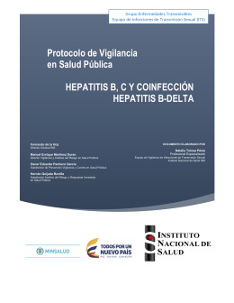 Protocolo de Vigilancia en Salud Pública HEPATITIS B, CY
