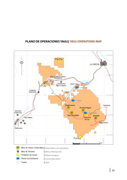 plano de operaciones yauli| yauli operations map
