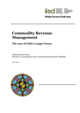 Commodity Revenue Management: The case of Chile`s copper boom