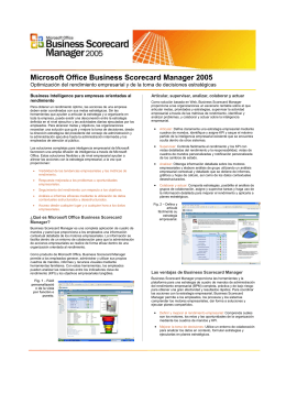 Microsoft Office Business Scorecard Manager 2005