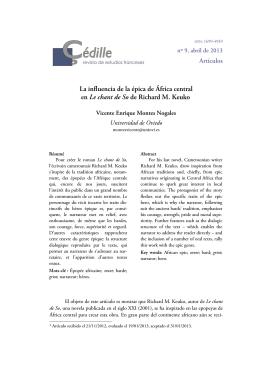 Vicente Enrique Montes Nogales - Çédille, revista de estudios