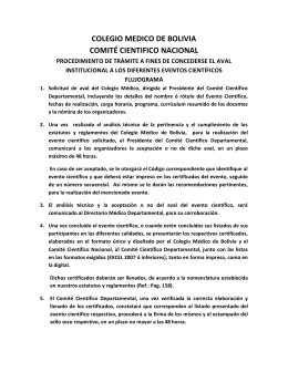 COLEGIO MEDICO DE BOLIVIA COMITÉ