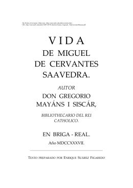 Vida de Miguel Cervantes de Saavedra