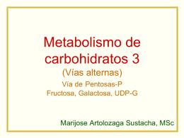 Metabolismo de carbohidratos 3 (Vías alternas) Vía de Pentosas