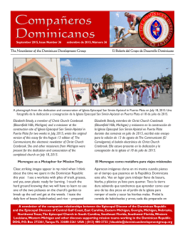 DDG Newsletter - The Dominican Development Group