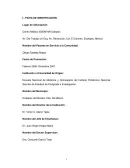 ESTUDIO ECATEPEC - Instituto Politécnico Nacional