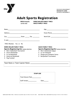 Adult Sports Registration - YMCA of Central Texas > YMCA of