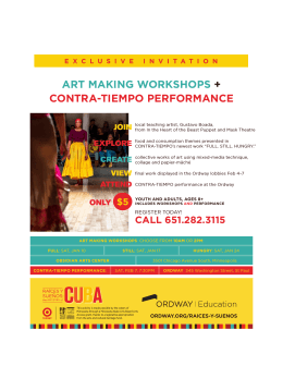 art making workshops + contra-tiempo performance