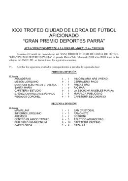 XXXI TROFEO CIUDAD DE LORCA DE FÚTBOL AFICIONADO